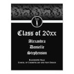 Black and White Cosmetology School Graduation Card