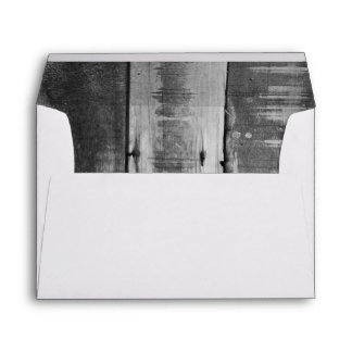 Black and White Country Barn Wood Envelope