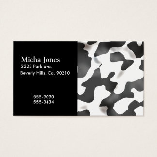 Black And White Country Cow Pattern Business Card