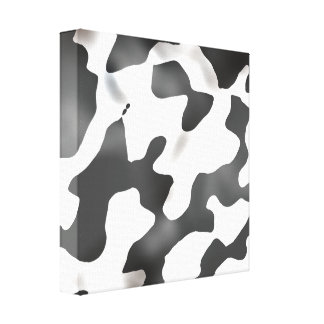 Black And White Country Cow Pattern Canvas Print