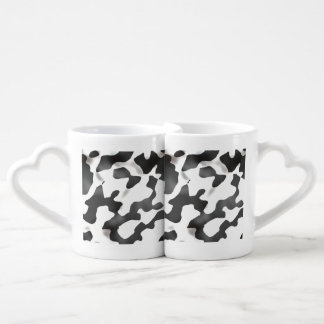 Black And White Country Cow Pattern Coffee Mug Set