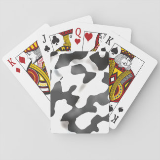 Black And White Country Cow Pattern Deck Of Cards