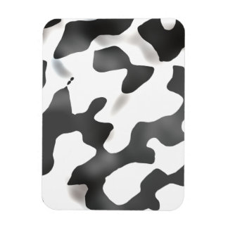 Black And White Country Cow Pattern Magnet