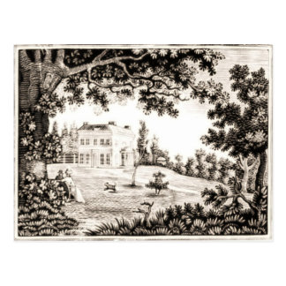 Black and White Country House Postcard