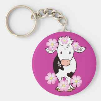 Black and white cow 4 keychain