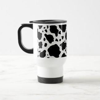 Black and White Cow Animal Pattern Print Travel Mug