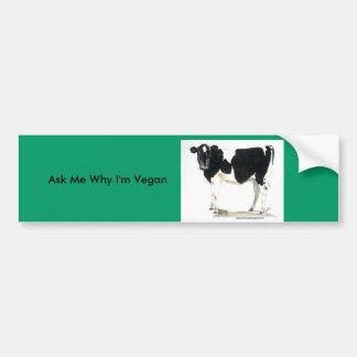 black and white cow bumper sticker
