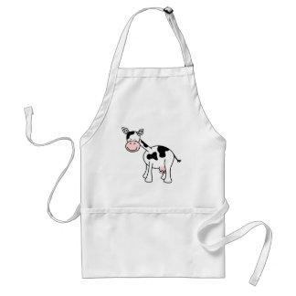 Black and White Cow Cartoon Apron