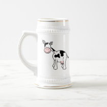 Black and White Cow Cartoon. Beer Stein