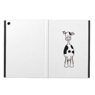 Black and White Cow Cartoon. Front. iPad Air Cases