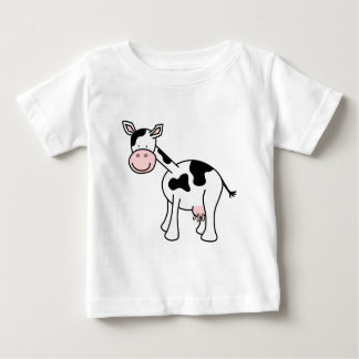 Black and White Cow Cartoon. T-shirt