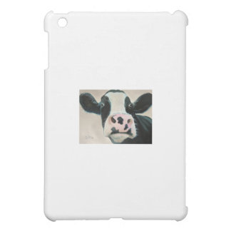 Black and white cow face portrait painting case for the iPad mini