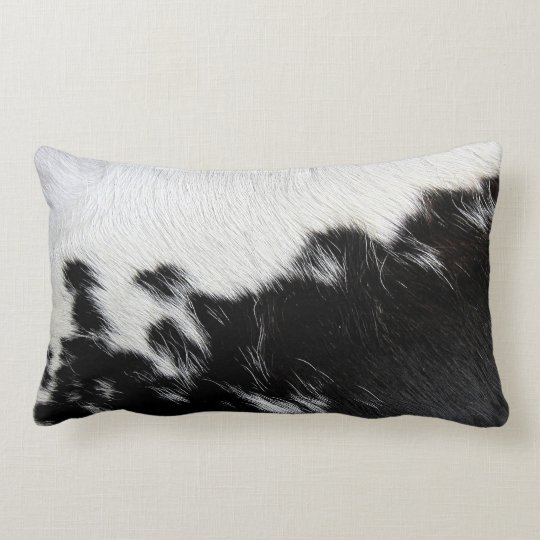 Black And White Cow Hide Lumbar Pillow Zazzle Com