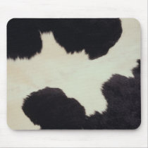 Black and White Cow Hide Mouse Pad