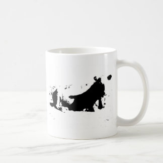 Black and White Cow in Ink Coffee Mug
