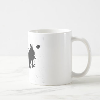 Black and White Cow in Ink Classic White Coffee Mug