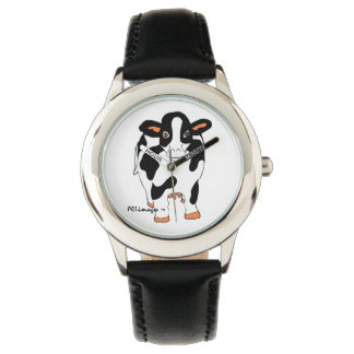 Black and White Cow Kid's Watch