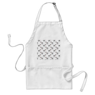 Black and White Cow Pattern. Adult Apron