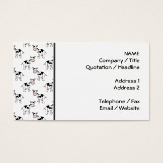 Black and White Cow Pattern. Business Card