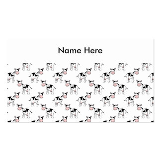 Black and White Cow Pattern. Double-Sided Standard Business Cards (Pack Of 100)