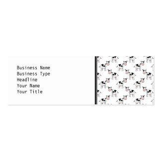 Black and White Cow Pattern. Double-Sided Mini Business Cards (Pack Of 20)
