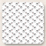 Black And White Cow Pattern. Coaster at Zazzle