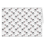 Black and White Cow Pattern. Greeting Card
