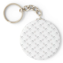 Black and White Cow Pattern. Keychain