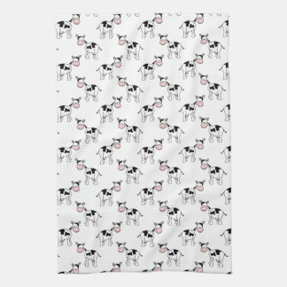 Black and White Cow Pattern. Kitchen Towel