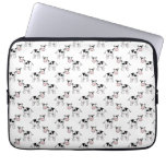 Black and White Cow Pattern. Laptop Sleeves