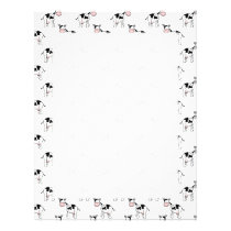 Black and White Cow Pattern. Letterhead