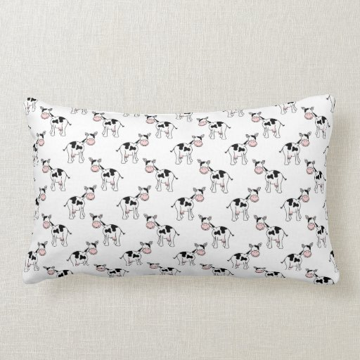black and white cow pattern lumbar pillow zazzle. Black Bedroom Furniture Sets. Home Design Ideas