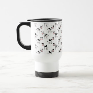 Black and White Cow Pattern. 15 Oz Stainless Steel Travel Mug