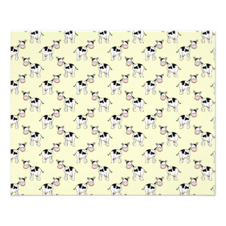 Black and White Cow Pattern on Light Yellow Flyer