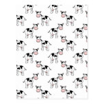 Black and White Cow Pattern. Post Cards