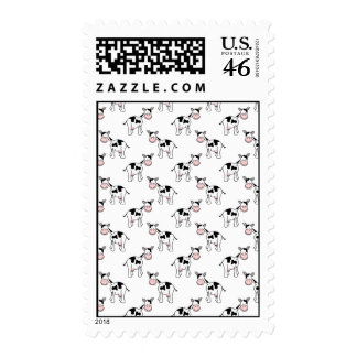 Black and White Cow Pattern Postage