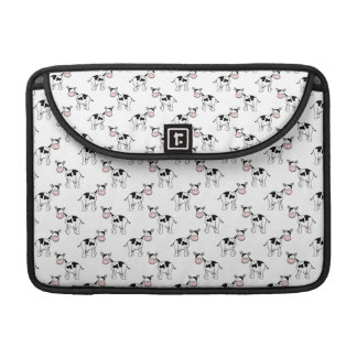 Black and White Cow Pattern. Sleeve For MacBook Pro