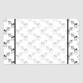 Black and White Cow Pattern. Rectangular Stickers