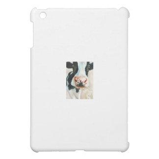 Black and white cow portrait painting iPad mini case