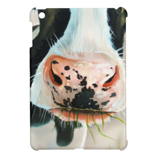 Black and white cow portrait painting iPad mini covers