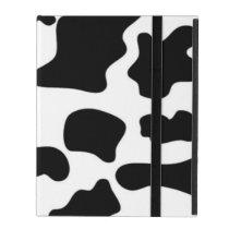 Black and White Cow print iPad Case