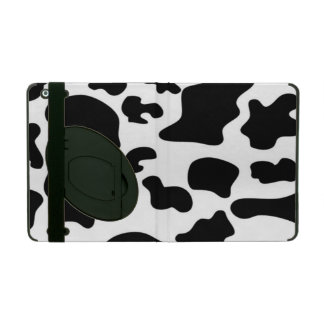 Black and White Cow print iPad Folio Case