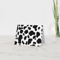 black and white cow print Note Card