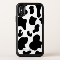 Black and White Cow print OtterBox Symmetry iPhone X Case