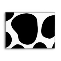Black and White Cow Print Pattern. Envelope