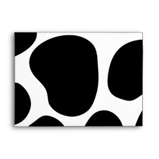 Black and White Cow Print Pattern. Envelope