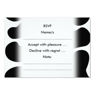 Black and White Cow Print Pattern. 3.5x5 Paper Invitation Card