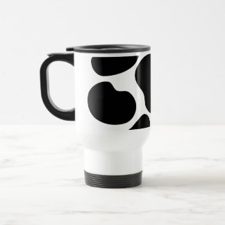Black and White Cow Print Pattern. 15 Oz Stainless Steel Travel Mug