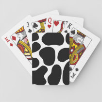 Black and White Cow Print Pattern. Playing Cards