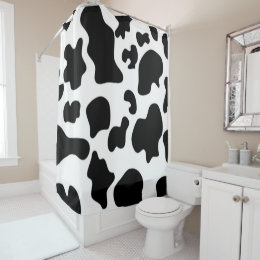 Black And White Cow Print Shower Curtain